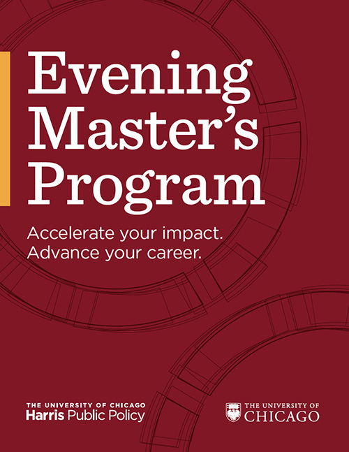 Evening Master's Program brochure cover