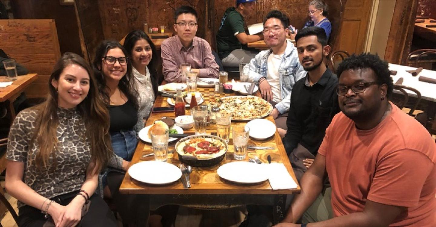 A group of 2019 DPSS students explore food and entertainment in UChicago's local Hyde Park community.