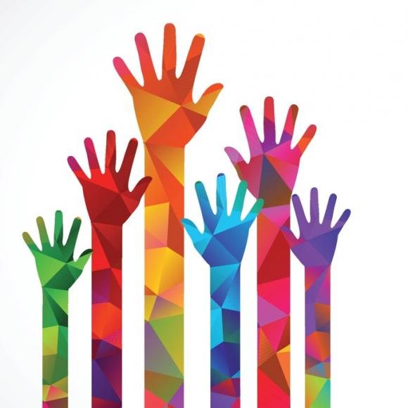raising hands to volunteer